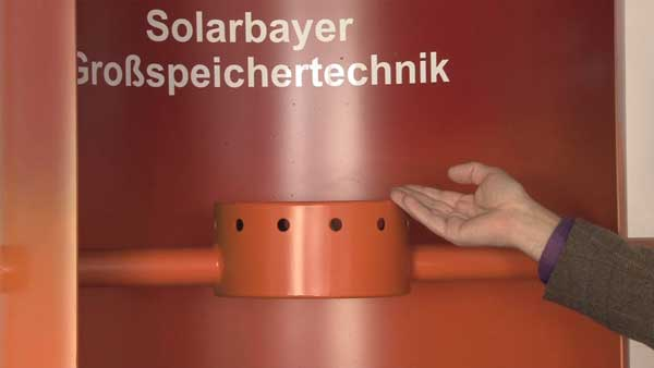 The principles of the patented SLS system in Solarbayer stratification buffer tanks SLS
