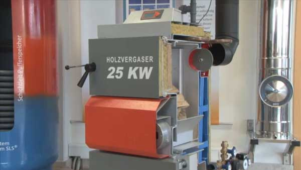 Video of wood gasifying boilers HVS